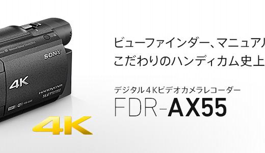 運動会に向けてビデオカメラを購入!【SONY FDR-AX55】